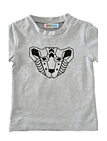 Boys' Print Tee Cotton Summer Short Sleeve Regular Leopard Kids Boys T Shirt Tops