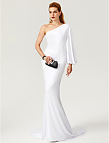 TS Couture Formal Evening Dress - Celebrity Style Trumpet / Mermaid One Shoulder Sweep / Brush Train Jersey with
