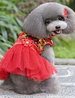 Dog Dress Dog Clothes Wedding Floral/Botanical Blushing Pink Blue Ruby Purple