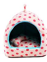 Собака Кровати Животные Коврики и подушки В горошек Теплый Мягкий Коричневый Синий Розовый