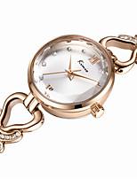 Жен. Модные часы Кварцевый Защита от влаги сплав Группа Серебристый металл Золотистый