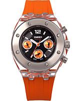Жен. Модные часы Кварцевый силиконовый Группа Оранжевый