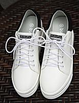 Для женщин Мокасины и Свитер Удобная обувь Полиуретан Весна Повседневные Удобная обувь Белый 4,5 - 7 см