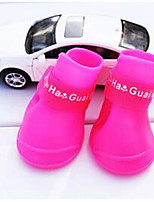 Dog Shoes & Boots Waterproof Solid Fuchsia