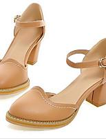Mujer Zapatos PU Primavera Verano Confort Gladiador Sandalias Para Casual Marrón Azul Rosa