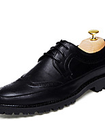Men's Oxfords Clogs & Mules Spring Fall PU Wedding Outdoor Office & Career Casual Party & Evening Flat Heel Lace-up Others Brown/Black