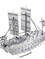 Kit Faça Você Mesmo Quebra-Cabeças 3D Quebra-Cabeça Quebra-Cabeças de Metal Brinquedos Barco de Guerra Navio 3D Faça Você Mesmo Simulação