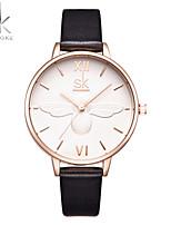 SK Жен. Модные часы Наручные часы Китайский Кварцевый Ударопрочный Крупный циферблат Позолоченное розовым золотом ГруппаБабочка