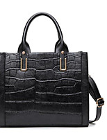 Women Shoulder Bag PU All Seasons Casual Outdoor Square Zipper Black