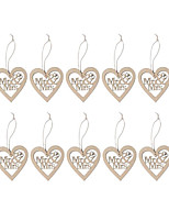 10 / Group Wooden Laser Engraving MR & MRS Wedding Love Hanging/Wooden Wedding Decoration
