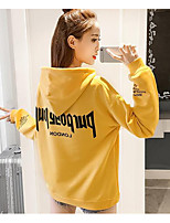 Women's Petite Sport Outdoor clothing Hoodie Quotes & Sayings Round Neck Micro-elastic Cotton Long Sleeve Spring