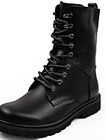 Для мужчин Ботинки Зимние сапоги Модная обувь Мотоциклетные ботинки Армейские ботинки Натуральная кожа Наппа Leather Кожа Осень Зима