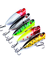 5 Pcs Classic Road Bait 7.3cm Wave Afraid Bait Random Color