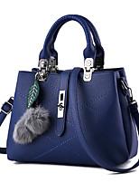 Women Shoulder Bag PU All Seasons Casual Office & Career Baguette Zipper Blushing Pink Black Blue