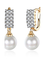 Women's Drop Earrings Cubic Zirconia Imitation Pearl Basic Fashion Vintage Bohemian Punk Personalized Hip-Hop Hypoallergenic Cute Style