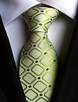 Men's Polyster Neck TieNeckwear Houndstooth All Seasons W0056