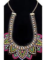 Femme Fille Pendentif de collier Colliers chaînes Bijoux BijouxOriginal Amitié Hip-Hop Pierre Multivoies Porter Le style mignon Gothique