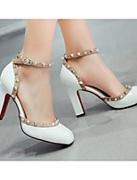 Women's Sandals Comfort PU Patent Leather Spring Casual Comfort Ruby Light Grey White Flat