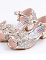 Girls' Flats Comfort Flower Girl Shoes Leatherette Summer Fall Casual Dress Comfort Flower Girl Shoes Sequin Flat HeelBlushing Pink Blue