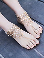 Women's Anklet/Bracelet Rhinestone Alloy Handmade Fashion Flower Jewelry For Dailywear Casual Outdoor clothing Going out Casual/Daily
