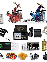 Stater Tattoo Kit 2 Tattoo Machines Power Needles Supply Without Inks