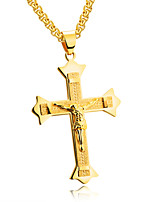 The new Europe and the United States personality man Jesus cross stainless steel necklace