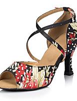 Для женщин Танцевальные кроссовки Полиуретан Сандалии Кроссовки Для открытой площадки На толстом каблуке Черный 5 - 6,8 см