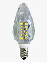4W Ampoules Bougies LED C35 40 SMD 2835 450-500 lm Blanc Chaud Blanc V 1 pièce