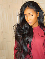 180% Density 360 Lace Wig For Black Women Malaysian Body Wave 360 Wig Pre Plucked Virgin Hair Natural Black Color