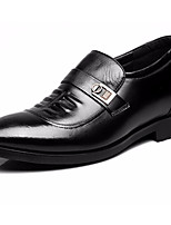 Men's Oxfords Formal Shoes Leather Spring Fall Office & Career Formal Shoes Black 2in-2 3/4in