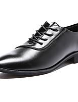 Для мужчин Туфли на шнуровке Удобная обувь Ткань Лето Осень Повседневные Для прогулок Удобная обувь Шнуровка На плоской подошвеЧерный