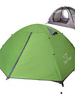 2 personnes Tente Double Tente pliable Une pièce Tente de camping 1500-2000 mm Nylon Taffetas en PolyesterEtanche Résistant à la