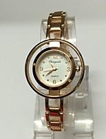 Mulheres Relógio Esqueleto Bracele Relógio Quartzo Lega Banda Brilhante Casual Ouro Rose