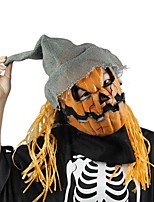 Halloween Mask Pumpkin Scarecrow Mask Creepy Latex Realistic Crazy Rubber Super Creepy Party Halloween Costume Mask