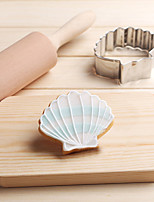 Ocean Scallop Shell Sea Cookies Cutter Stainless Steel Biscuit Cake Mold Metal Kitchen Fondant Baking Tools