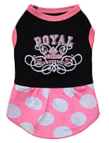 Dog Dress Dog Clothes Casual/Daily Princess Jade Fuchsia Black White