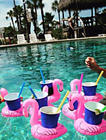 Environmental Inflatable Toys Coconut Cup Mat Flamingos Donuts Water Cup Holder Design Is Random