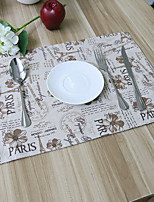 European-style Double-sided Thickening Cotton And Linen Table Placemat 32*45cm