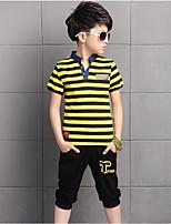 Boys' Stripe Sets,Cotton Summer Clothing Set