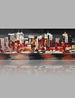 Peint à la main Abstrait Format Vertical,Abstrait Moderne/Contemporain Un Panneau Toile Peinture à l'huile Hang-peint For Décoration