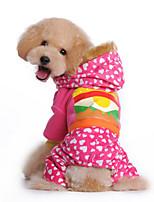 Cachorro Camisola com Capuz Macacão Roupas para Cães Casual Natureza Amarelo Rosa claro