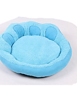 Dog Bed Pet Baskets Solid Footprint/Paw Warm Soft Washable Blue Purple
