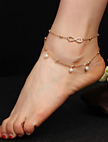 Charm Silver Women's Boho Summer Pearl Anklet Leg Chain Wing Foot Chain Jewelry