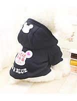 Dog Costume Dog Clothes Casual/Daily Cartoon White/Black Blushing Pink Blue Green Ruby