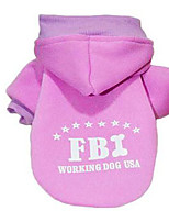 Dog Coat Hoodie Dog Clothes Casual/Daily Cosplay British Ruby Purple Black