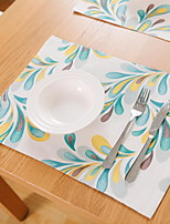 Japanese-style Double-layer Cotton And Linen Table Placemat 32*45cm