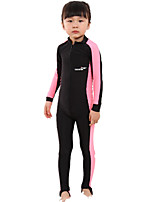 Children's 3mm Full Wetsuit Sports Terylene Diving Suit Long Sleeve Diving Suits-Diving & Snorkeling All Seasons Solid