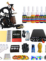 Solong Tattoo Complete Starter Beginner Tattoo Kit 1 Pro Machine 7 Inks Power Supply Needle
