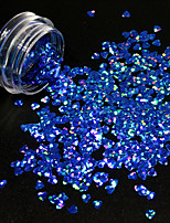1g/Bottle Nail DIY Lovely Heart Shape Design Noble Blue Nail Art Starry Glitter Sequins Sparkling 3D Decoration Paillette 1401W