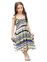 Girl's Stripes Dress,Polyester Summer Sleeveless